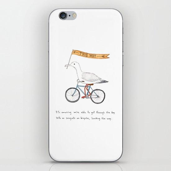 seagulls on bicycles iPhone & iPod Skin