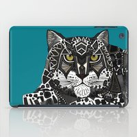 snow leopard teal iPad Case