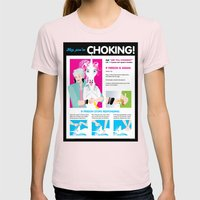 Hey, You're CHOKING! Fea… Womens Fitted Tee Light Pink SMALL