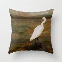 Marshland Vs Man Throw Pillow