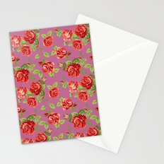 Rose pattern- pink Stationery Cards