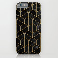 Black Marble Hexagonal Pattern iPhone 6 Slim Case