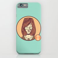 iPhone & iPod Case featuring self-portrait (colored) by freshinkstain