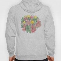 Succulent Watercolor Bouquet Hoody