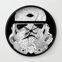 Gore Trooper Blk/Wht Wall Clock