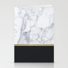 MARBLE GOLD BLACK  Stationery Cards