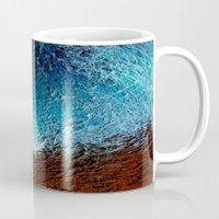 Abstract Blue, White And… Mug