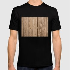 Wood I SMALL Mens Fitted Tee Black