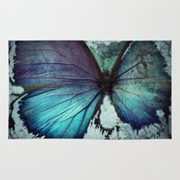 Abstract Butterfly Rug