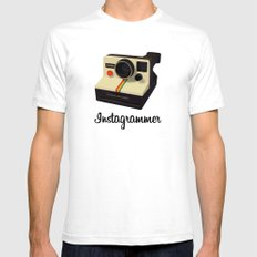 instagrammer SMALL White Mens Fitted Tee