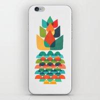 Colorful Whimsical Ananas iPhone & iPod Skin