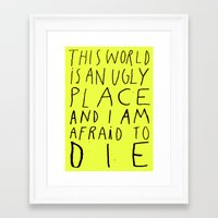 THIS WORLD Framed Art Print