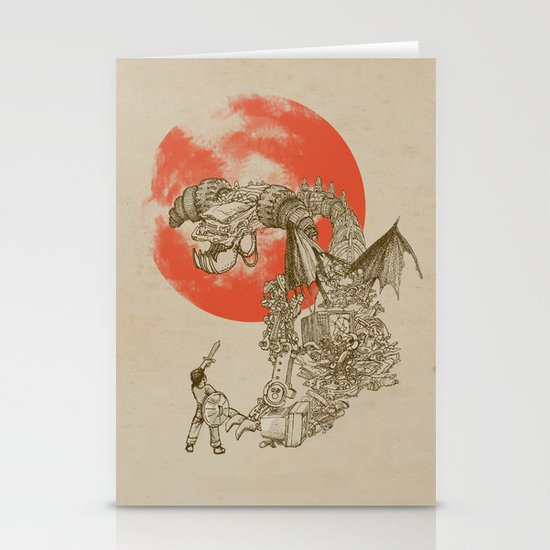 Junkyard Dragon  Stationery Card