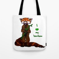 I Love My Bamboo (tablet… Tote Bag