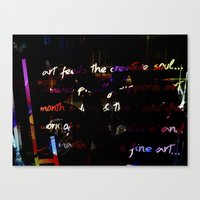Glowing letters Canvas Print
