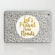 Laptop & iPad Skin featuring Let's Travel New Roads by Pom Graphic Design
