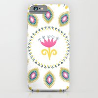 Suzani inspired floral blue 4 iPhone 6 Slim Case