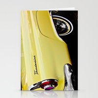 Yellow Vintage Ford Thun… Stationery Cards