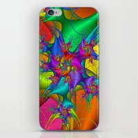 Explosion in a paint factory! iPhone & iPod Skin