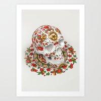Dvina Skull Art Print