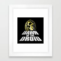 Dawn Of The Droid Framed Art Print