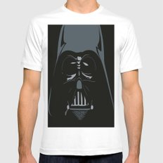 Darth Vader SMALL White Mens Fitted Tee