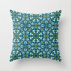 Abstract Mandala Flower … Throw Pillow