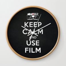 Keep Calm And Use Film Wall Clock
