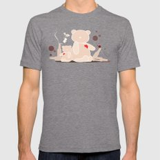 A Night with Ted Mens Fitted Tee Tri-Grey SMALL