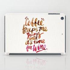 Coffee & Wine – Brown & Magenta Ombré iPad Case