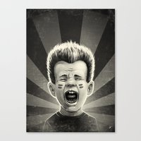 Noise Black Canvas Print