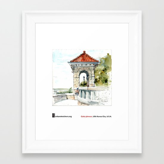 "Cathy Johnson, ""Case Park"" Framed Art Print"