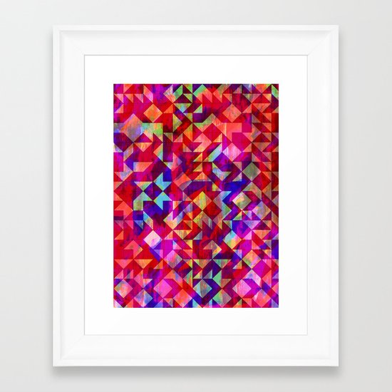 Geo Gem Framed Art Print