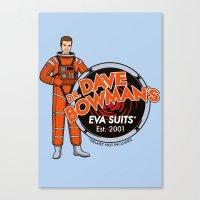 Dr. Dave Bowman's EVA Su… Canvas Print