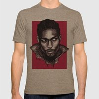 D'Angelo Mens Fitted Tee Tri-Coffee SMALL