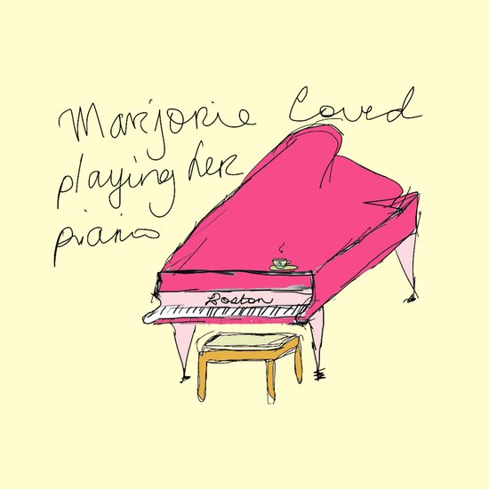 """Marjorie loved playing her piano Art Print"