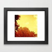 RED SCALE Framed Art Print