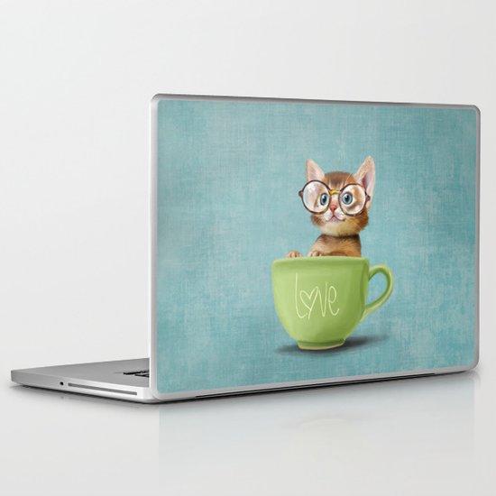 Mr. Micio Miao - Kitten with glasses Laptop & iPad Skin