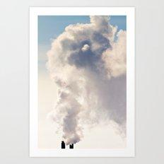 Majestic Smoke Pollution Art Print