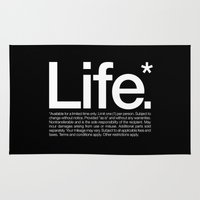 Life.* Available for a limited time only. Rug