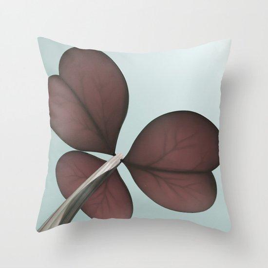 three leaf clover Throw Pillow