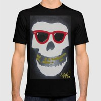 Old Dirty-Crimson Ghost-Face Killa Mens Fitted Tee Black SMALL