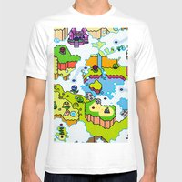 Super Sky World Mens Fitted Tee White SMALL