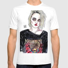 SKY FERREIRA NO,17 Mens Fitted Tee White SMALL