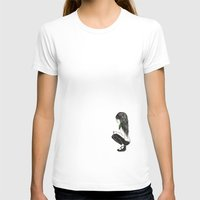Feather Girl Womens Fitted Tee White SMALL