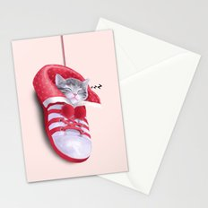 Cat in the Shoe Stationery Cards