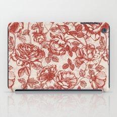 Toile de jouy (Roses) iPad Case