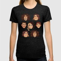 Game Grumps Pattern New Womens Fitted Tee Tri-Black SMALL