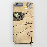 iPhone & iPod Case featuring Bird's Winged Flight  by Rachael Shankman