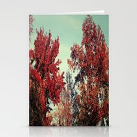Fall Fire Stationery Cards
